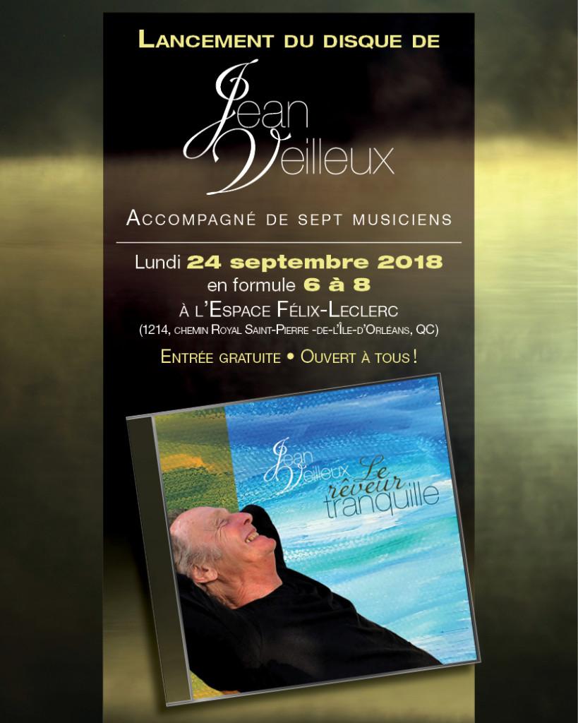 Jean Veilleux - Lancement du disque - 24-09-2018